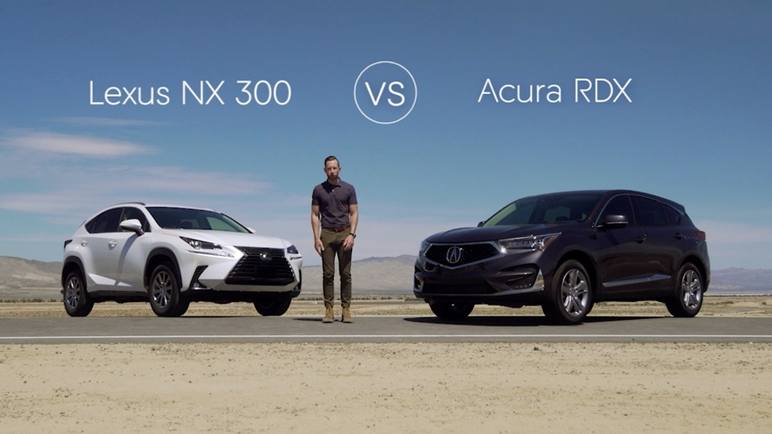 Video de la Lexus NX 300 frente a la Acura RDX